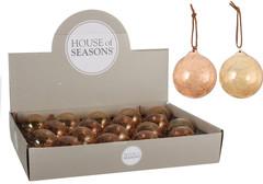 Елочный шар 7см House of Seasons коричневый в ассортименте 2 вида