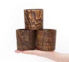 Набор бокалов для виски из дерева «Сибирский вяз», 3 шт, фото 5