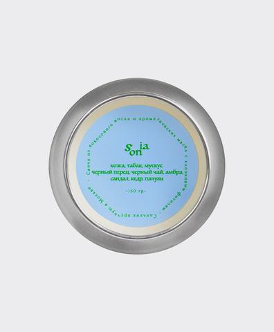 Свеча-шар серебро mini Sonia