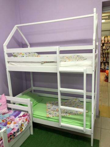 Кровать детская домик двухъярусная