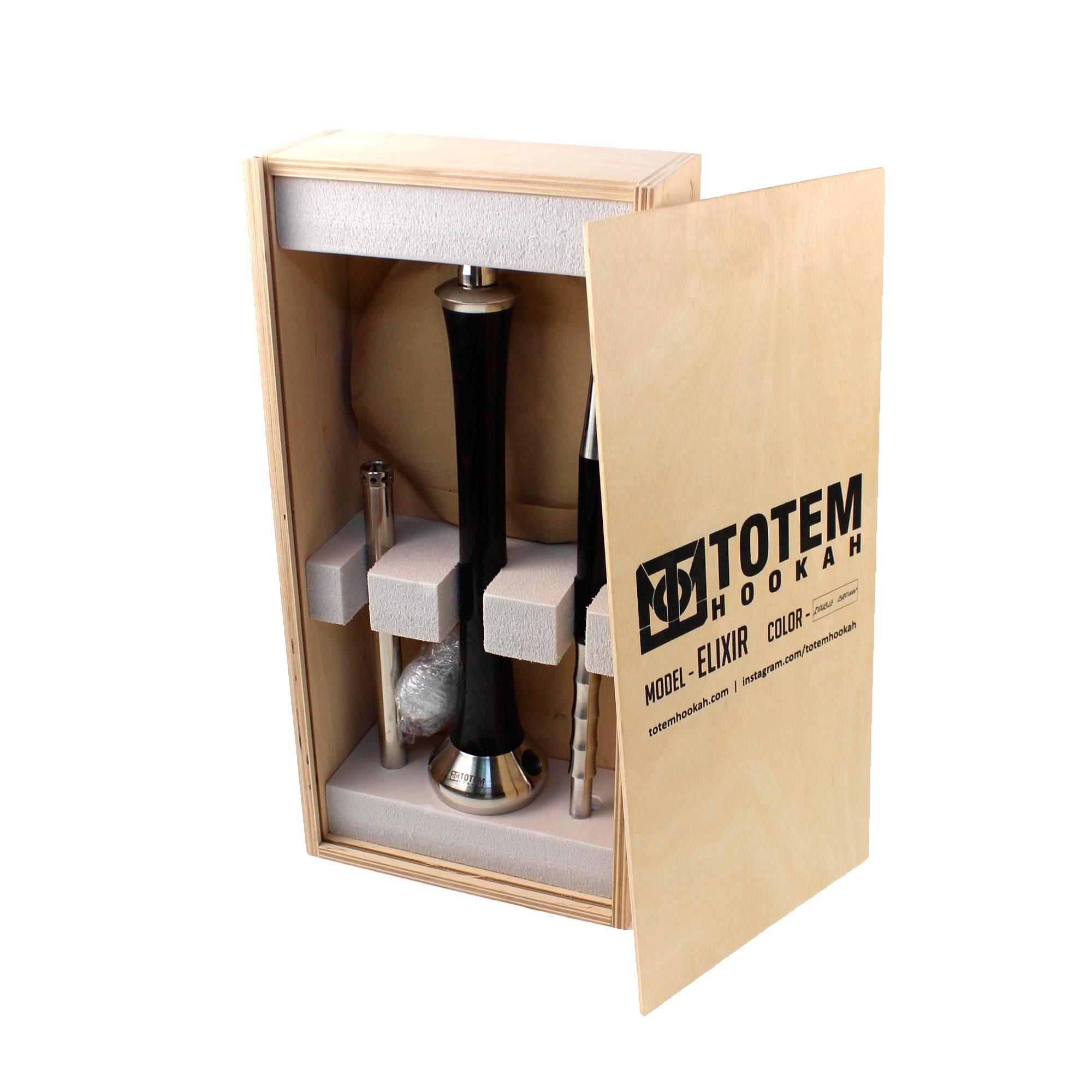 Фирменный деревянный ящик для шахты Totem Elixir Double brown