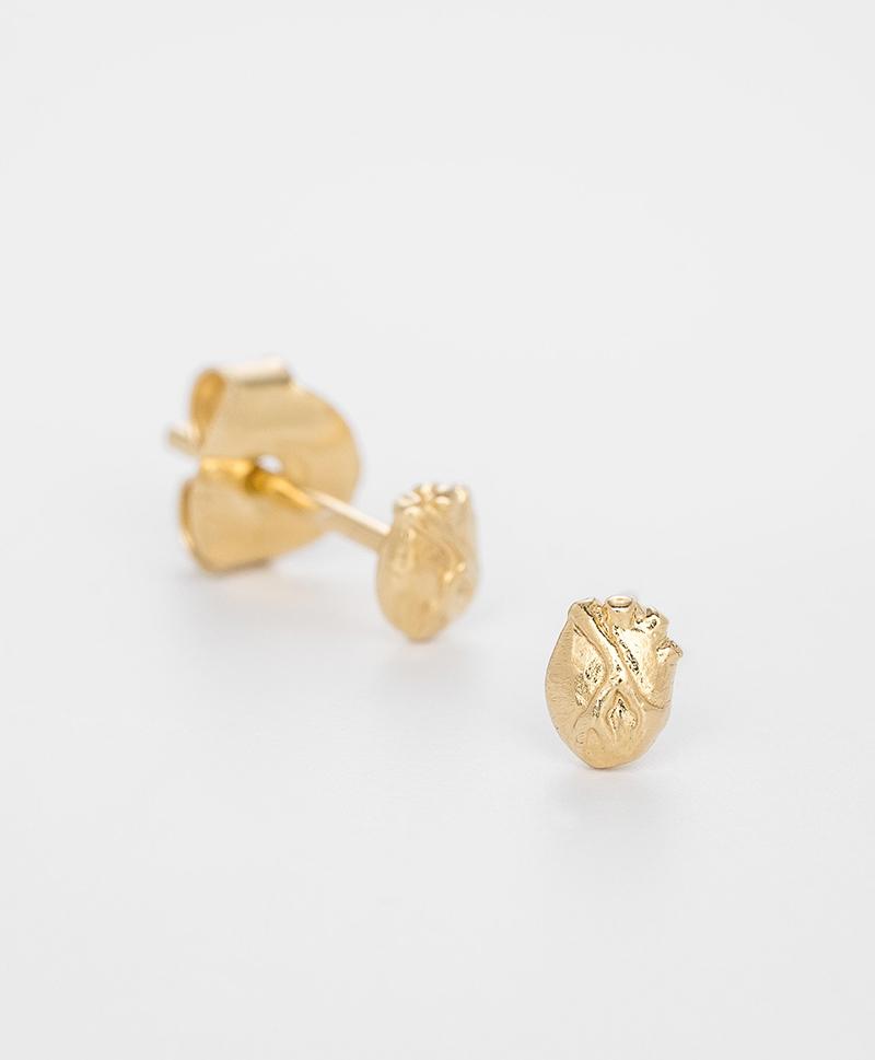 Серьги ANATOMIC HEART SMALL GOLD