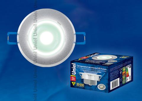 ULM-R31-3W/NW IP20 Sand Silver картон Светильник светодиодный встраиваемый поворотный, 110-240В. Материал корпуса алюминий, цвет матовое серебро. Белый свет.