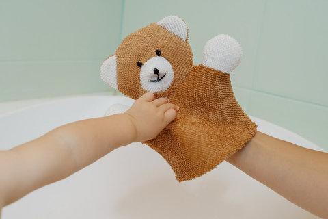 Махровая мочалка-рукавичка Baby Bear.