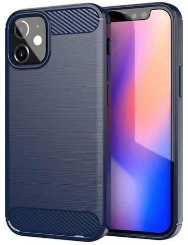 Чехол темно-синий для IPhone 12 mini, серия Carbon от Caseport