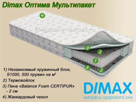 Матрас Dimax Оптима Мультипакет с описанием на Мегаполис-матрас
