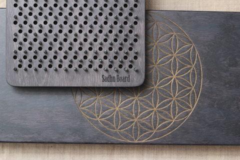 Доска с гвоздями Sadhuboard Цветок жизни складная