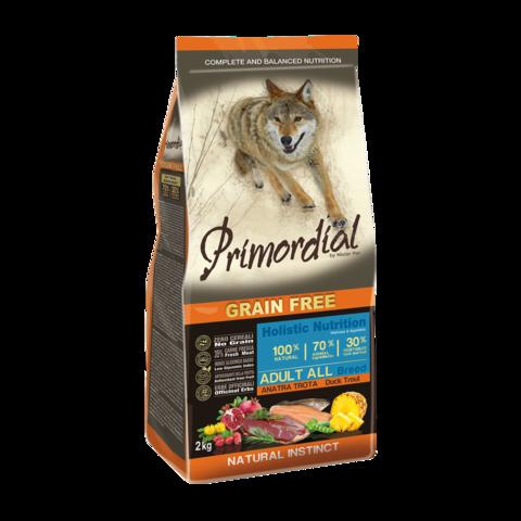 Primordial Сухой корм для собак с форелью и уткой (беззерновой)