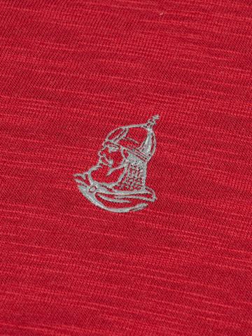 Мужская футболка «Великоросс» красного цвета - круглый ворот