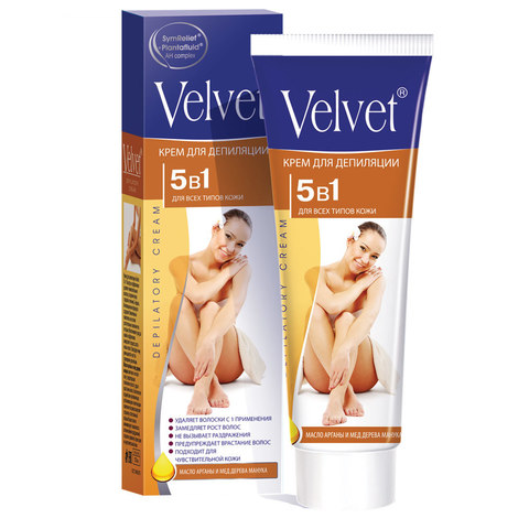 Velvet Крем для депиляции 5 в 1 для всех типов кожи
