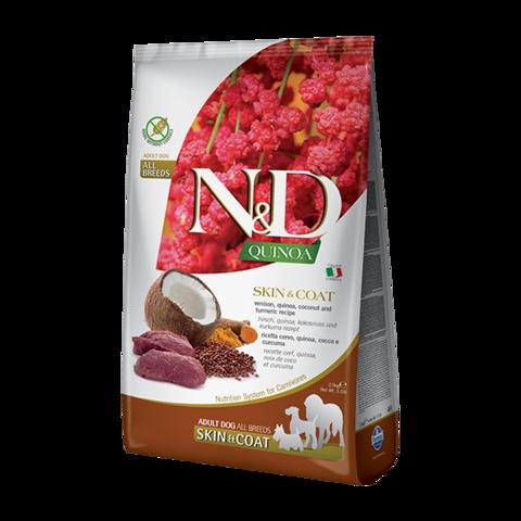 Farmina Quinoa Skin&Coat Venison Сухой корм для собак для здоровья кожи и шерсти Оленина с Киноа беззерновой