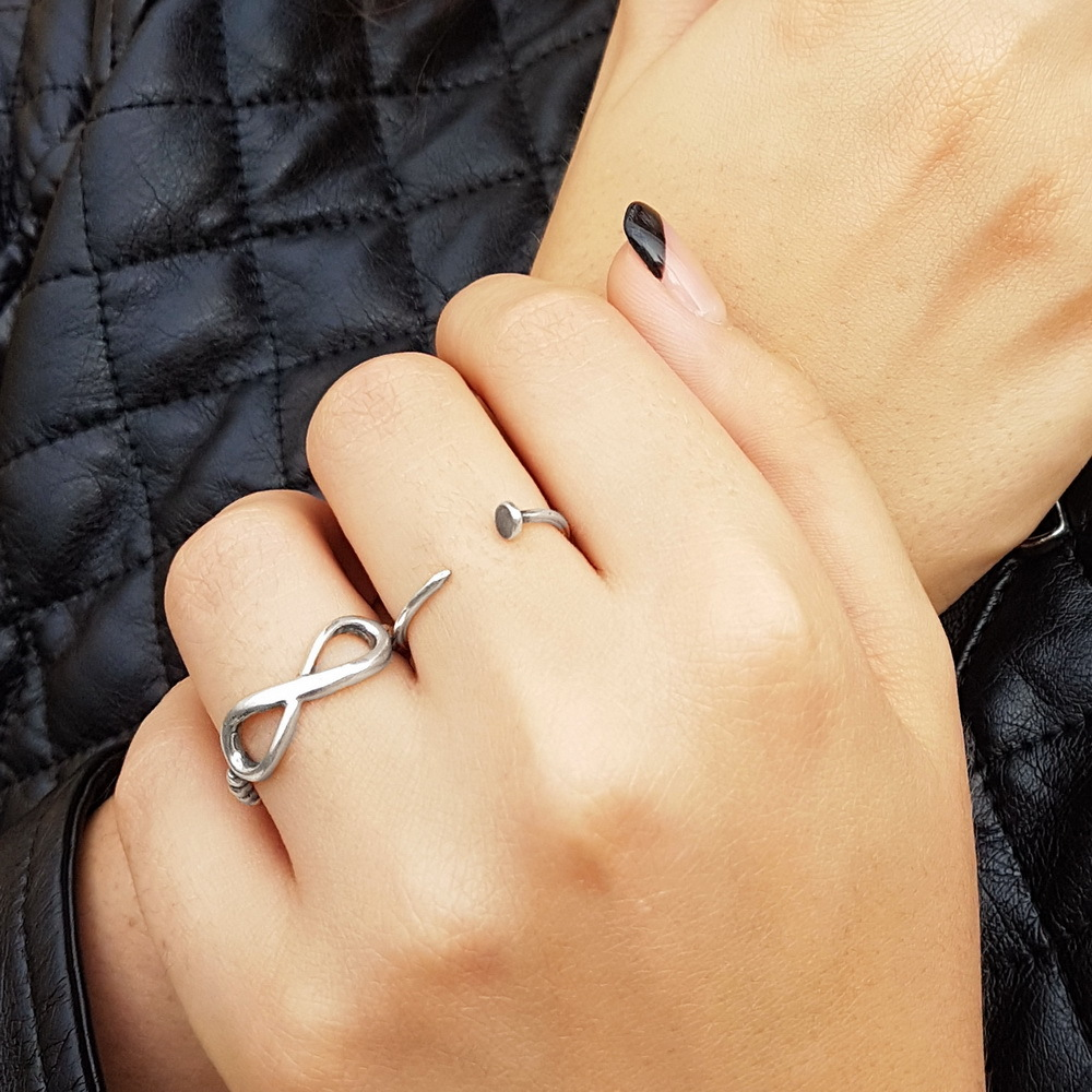 Nail Ring, Streling Silver
