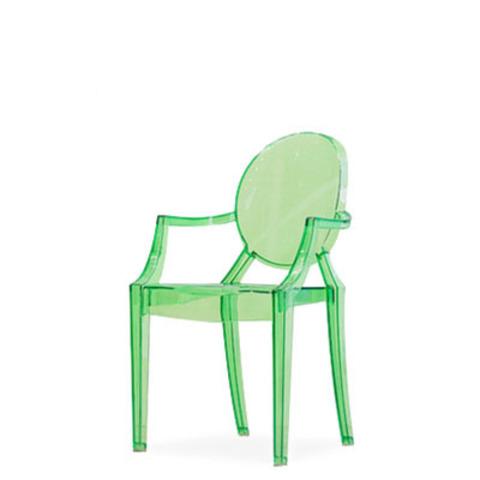 Стул-кресло Louis by Kartell (прозрачный/зеленый)