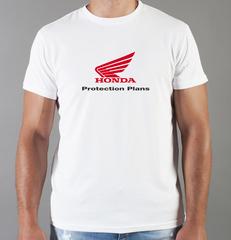 Футболка с принтом Honda (Хонда) белая 0023