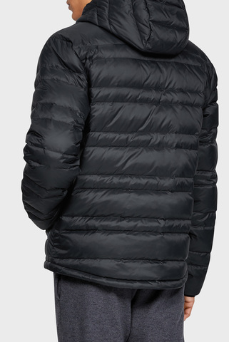 Мужской черный пуховик UA Armour Down Hooded Jacket Under Armour