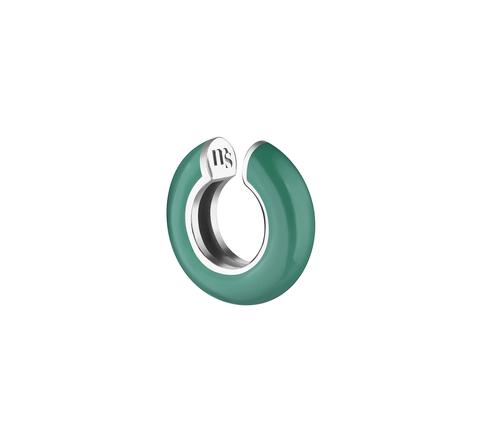 Кафф с зеленой эмалью
