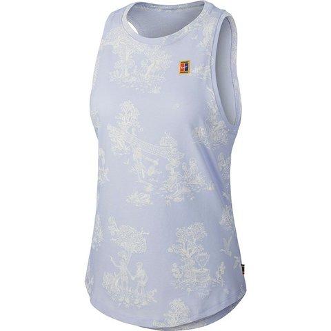 Женская теннисная футболка NIKE COURT COTTON TANK  / AR6232-508