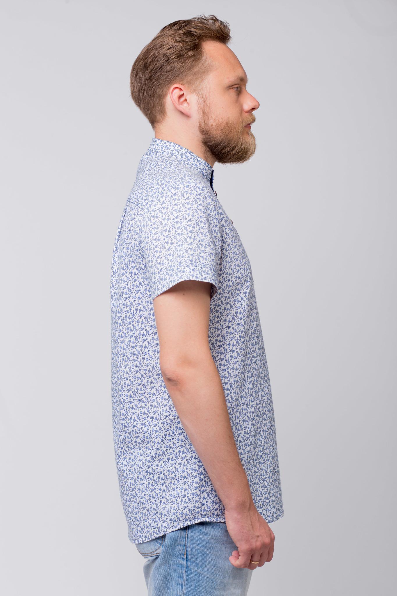 Рубашка льняная Енисейская вид сбоку