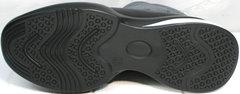 Зимние женские полусапожки на низком ходу Jina 7195 Leather Black-Gray