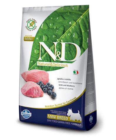 Farmina N&D Dog сухой корм для собак мелких пород (ягненок с черникой) 2,5 кг