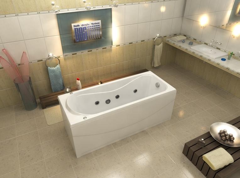 Ванна акриловая BAS Верона 150х70 с гидромассажем