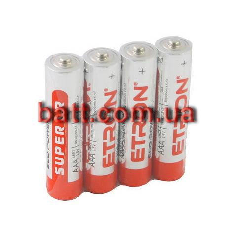 Батарейки Etron Eco Power Alkaline LR03, AAA (4/40)