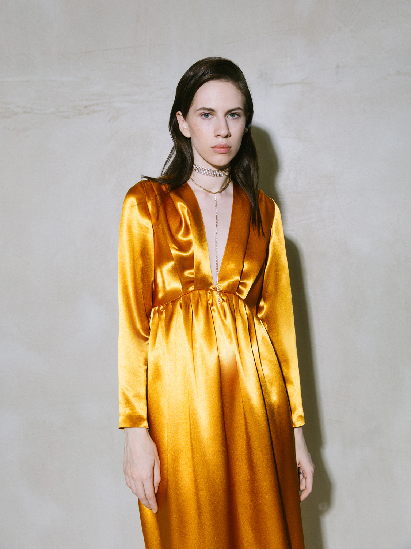 Платье атласное NY Edition