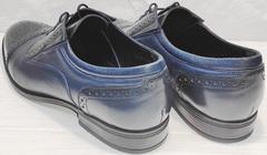 Классические оксфорды туфли натуральная кожа Ikoc 3805-4 Ash Blue Leather.