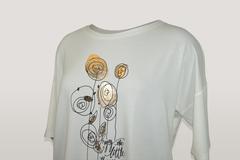 Блузка Elite 3683 цветы к/р