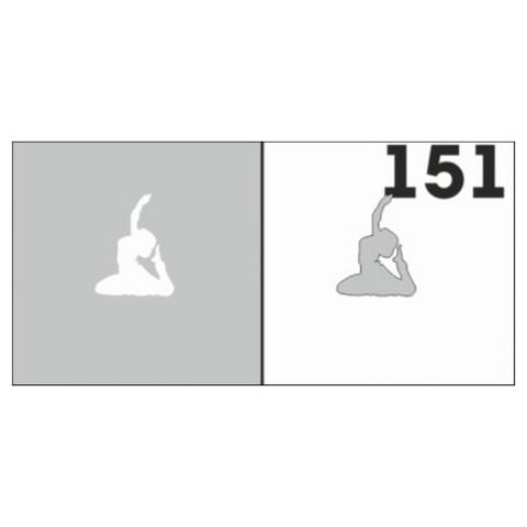 Трафарет для ногтей 6 шт. /1 уп. №151