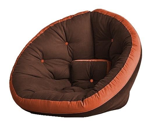 Универсальные кресла Кресло Farla Lounge Тёмно-коричневое с оранжевым tbro_ora_ora.jpg