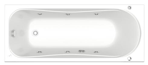 BAS Верона 150х70 с гидромассажем