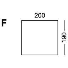 Elastic sheet / model F / blue