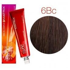 Matrix Color Sync: Brown Copper 6BC темный блондин коричнево-медный, крем-краска без аммиака, 90мл