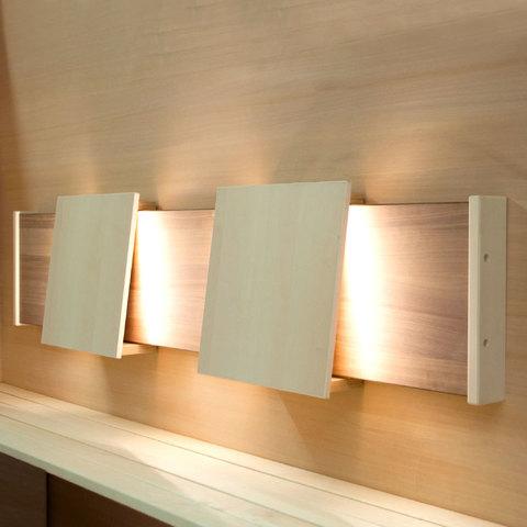 Спинка с подсветкой Licht-2000 Siesta Боковая панель из американского ореха