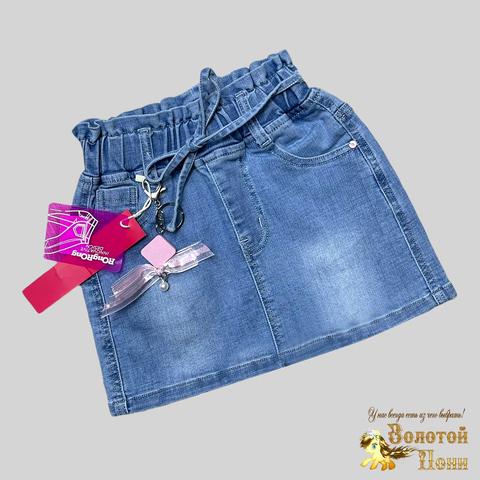 Юбка джинсовая девочке (4-9) 210312-С2-1L145
