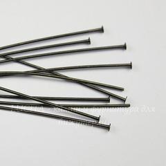Пины-гвоздики TierraCast 51х0,7 мм (цвет-черный никель), 10 штук