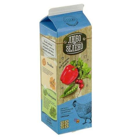 Овощи Любо-Зелено 1.0л тетра-пак удобрение органоминеральное