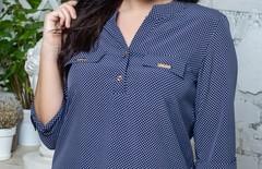 Вікторія. Жіноча блуза маленьких і великих розмірів