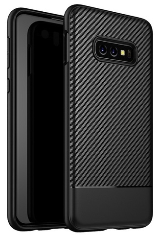 Чехол под карбон на Samsung Galaxy S10e (Lite) ультра тонкий, серии Fit от Caseport