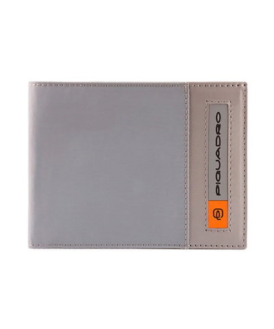 Кошелек Piquadro Bios, серый, 12,5x9x2 см