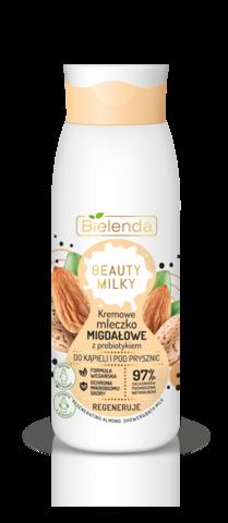 BIELENDA BEAUTY MILKY Миндальное кремовое молочко для душа с пребиотиком 400мл