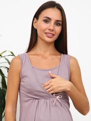 Мамаландия. Комплект для беременных и кормящих с отрезной кокеткой, коричневые цветы