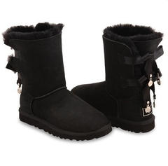 UGG Bailey Bow Bling Black