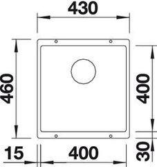 Мойка Blanco Subline 400-U схема