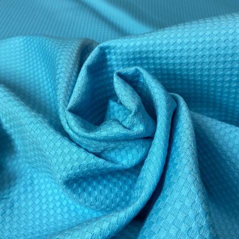 Ткань хлопок пике ярко- голубой 2017