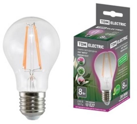 Лампа светодиодная A60-8 Вт-230 В-E27-CL