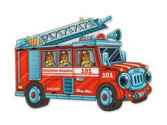 Пазл деревянный для малышей Пожарная машина Ань-Янь