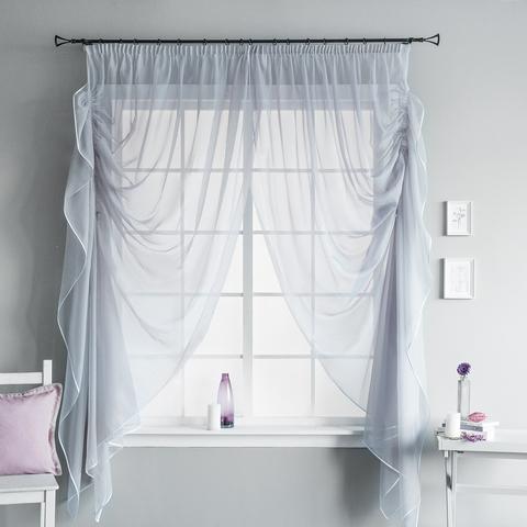 Готовая штора Loko серый