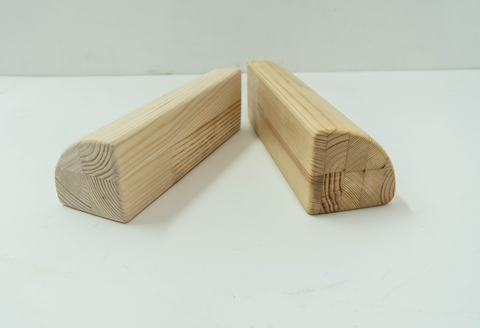 Кирпич для йоги полукруглый деревянный шлифованный 23*8 см